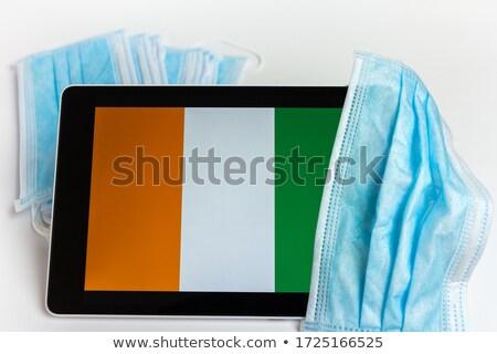 Tabletta Elefántcsontpart zászló kép renderelt mű Stock fotó © tang90246