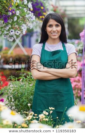 портрет женщины сотрудник саду центр Сток-фото © HighwayStarz