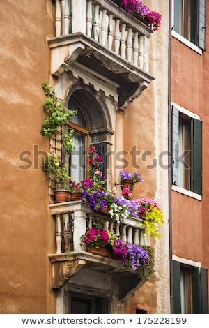 Vista ventana cuadro balcón Toscana Foto stock © imagedb