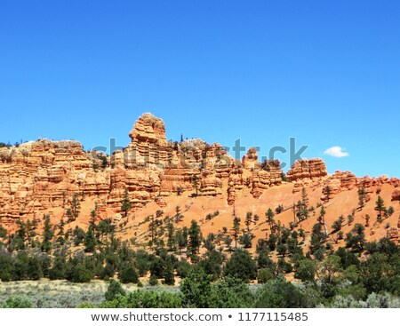 White Sandstone Mountain Near Bryce Canyon National Park Utah  Stock photo © billperry