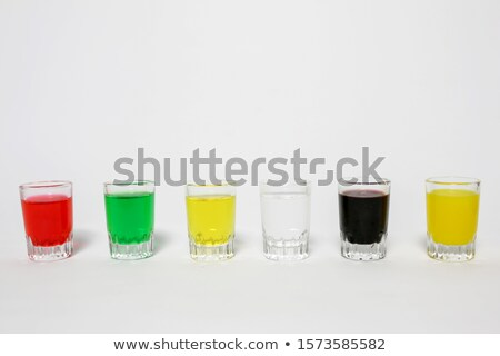 Collection of different drinks in batch glasses Stock photo © maxsol7