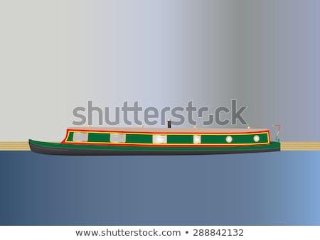 運河 空 水 旅行 ボート ストックフォト © chris2766