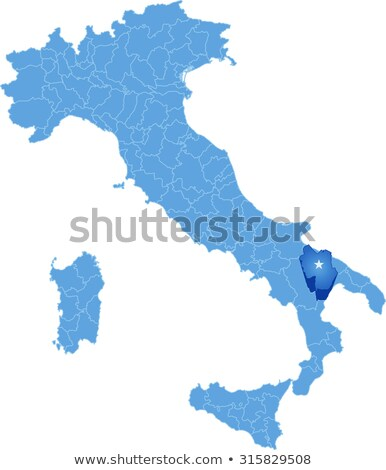 Map of Italy, Matera Stock photo © Istanbul2009