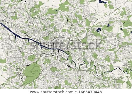 Straßenkarte Glasgow rot Pin Stadt Karte Stock foto © chris2766