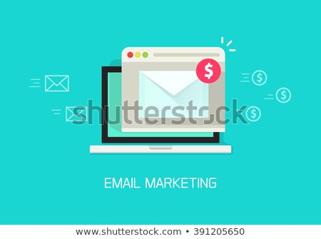 Email Marketing Indicates Send Message And Advertising Stock photo © stuartmiles