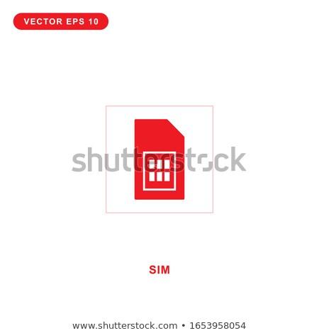 3g знак красный вектора икона дизайна Сток-фото © rizwanali3d