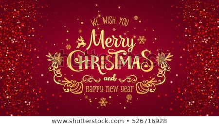 Christmas Typographical on red Background Stock photo © netkov1