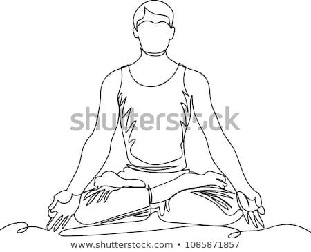 Foto d'archivio: Uomo · yoga · Lotus · posizione · posa · salute