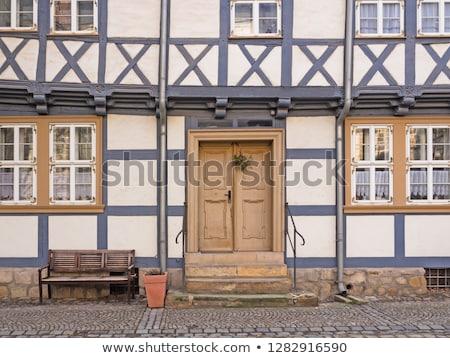 Fasada domów miasta Niemcy drewna miasta Zdjęcia stock © haraldmuc