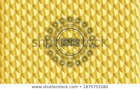 Scale Golden Vector Icon Button Stock photo © rizwanali3d
