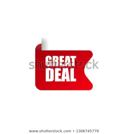 Nagyszerű akciók piros vektor ikon terv Stock fotó © rizwanali3d