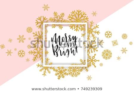 Merry Christmas pink glittering lettering design. Vector illustration EPS 10  Stock photo © rommeo79