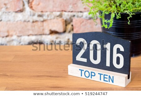 Сток-фото: Тенденции · 2016 · список · стороны · Дать · маркер