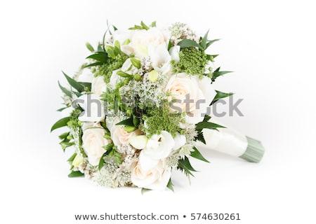 Gyönyörű virágcsokor fehér stock fotó tavasz Stock fotó © nalinratphi