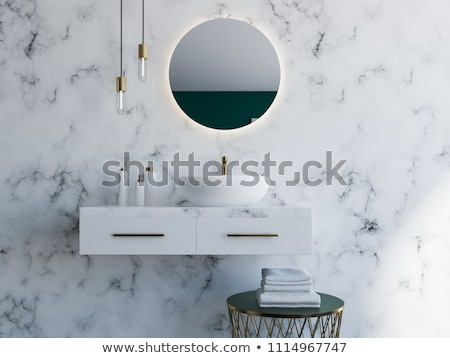 Bathroom with marble decor Stock photo © jrstock