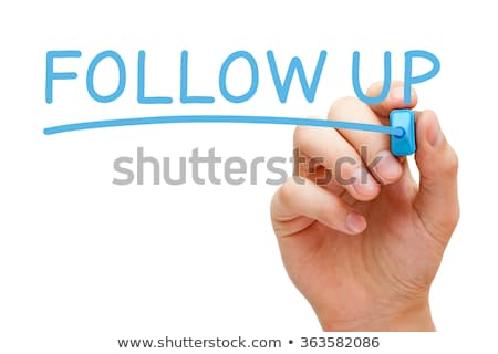 Follow Up Blue Marker Stock photo © ivelin