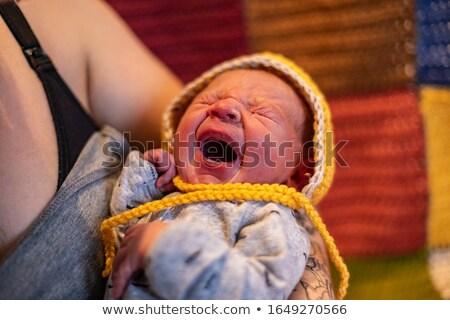 első · kilátás · baba · születés · anya · kórház - stock fotó © meinzahn
