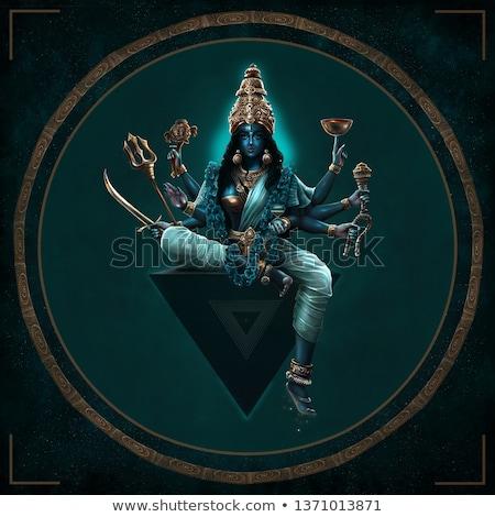 богиня иллюстрация женщину рук закат поклонения Сток-фото © adrenalina