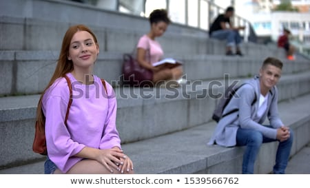 Teenagers flirting Stock photo © zurijeta