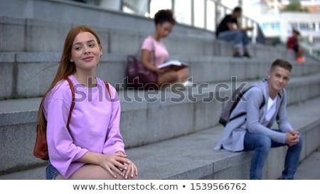 jovens · dois · jovens · mulher · em · pé - foto stock © zurijeta