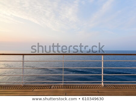 balustrade of a cruise ship . Stock photo © fanfo