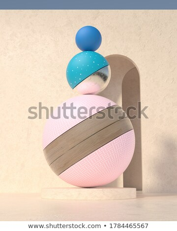 Abstract wooden ball composition Stock photo © Zela