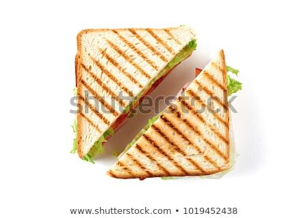 トースト サラミ ハム スライス 焼いた パン ストックフォト © Digifoodstock