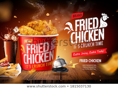 Fast Food Products On Wooden Background Stock photo © Genestro