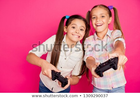 рубашку играет видеоигра геймпад Сток-фото © stevanovicigor
