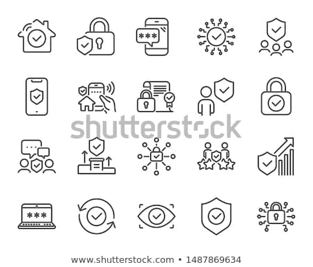 Stock photo: Secure Access Icon. Flat Design.