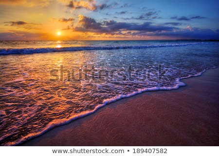 Radiant sea beach sunrise stock photo © mady70