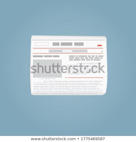 inwestycja · wiadomości · nagłówek · papieru · codziennie · ceny - zdjęcia stock © frankljr