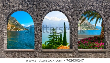 The collage from views of  Lake Garda Stock photo © master1305