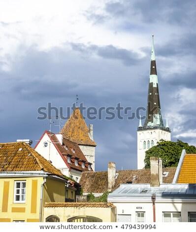 barrio · antiguo · Tallinn · Estonia · famoso · mundo · patrimonio - foto stock © meinzahn