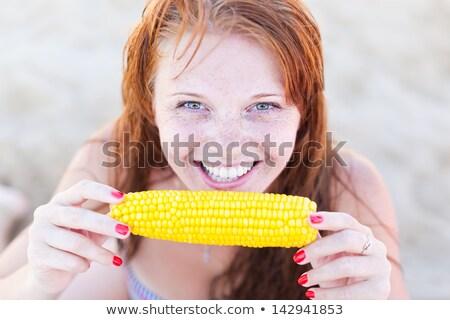 girl with cob Stock photo © adrenalina