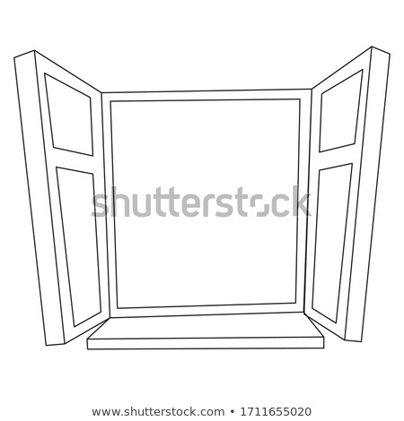 a closed window with light reflections stock photo © bluering