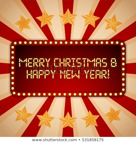 christmas casino happy new year 2017 vector illustration stock photo © carodi