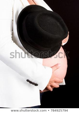 Gyönyörű ruhátlanul nő mell meztelen kezek Stock fotó © Aikon