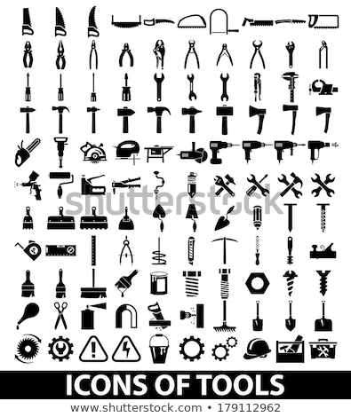 Toolbox uitrusting werk papier hout potlood Stockfoto © zurijeta