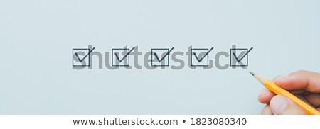 チェックリスト · クリップボード · エレガントな · ペン · オフ · タスク - ストックフォト © kali