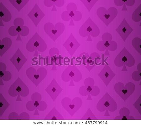 simples · roxo · pôquer · transparente · efeito · padrão - foto stock © liliwhite