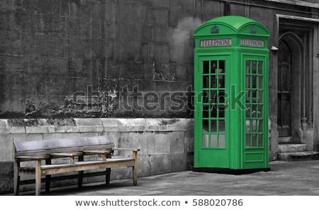 電話 ブース 緑 色 実例 ドア ストックフォト © bluering