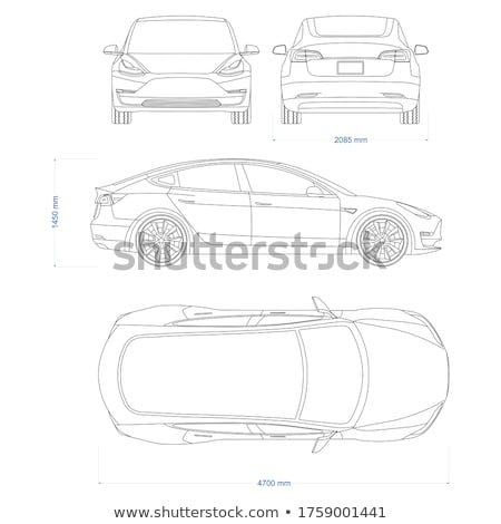Sedan veículo topo vista lateral branco carro Foto stock © bluering