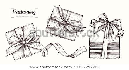 宝石 ギフトボックス 空っぽ ベルベット 孤立した 白 ストックフォト © coprid