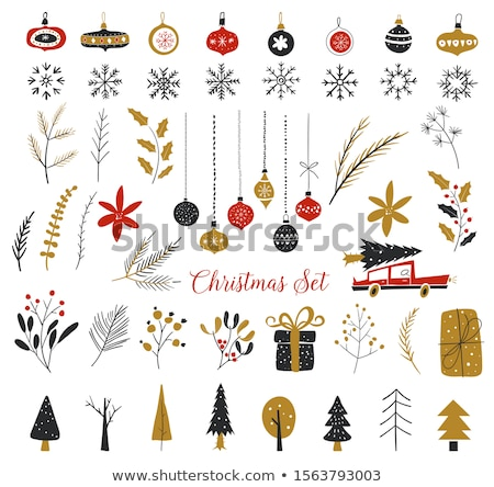 christmas elements set stock photo © genestro