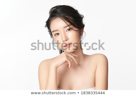 Stock photo: Portrait of a cute lady