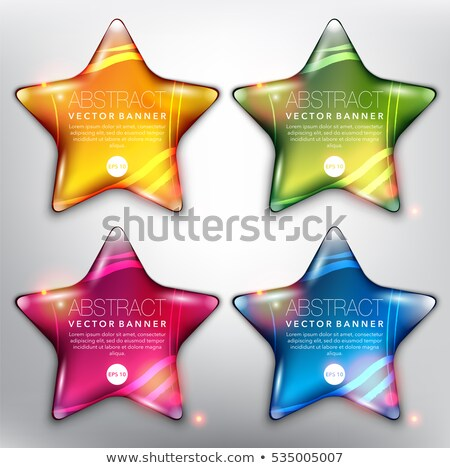 four banners with sparkling stars stock photo © blackmoon979