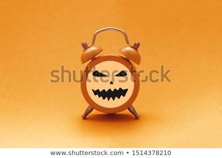 Halloween óra nem gradiensek használt réteges Stock fotó © DzoniBeCool