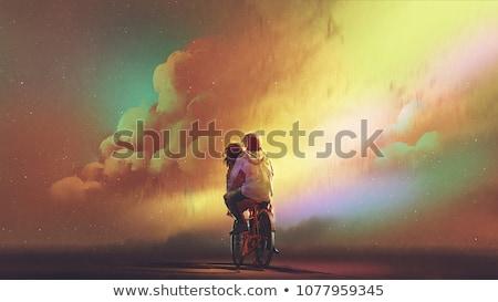 愛 絵画 壁 作業 デザイン ストックフォト © alexeys
