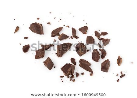 куча · сломанной · частей · шоколадом · шоколадный · сироп · темный · шоколад - Сток-фото © artjazz